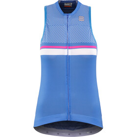 Sportful Diva 2 Mouwloos Fietsshirt Dames, parrot blue/bubble gum/white